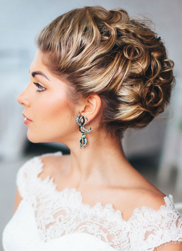 Bride with Updo by Cuts N Stuff