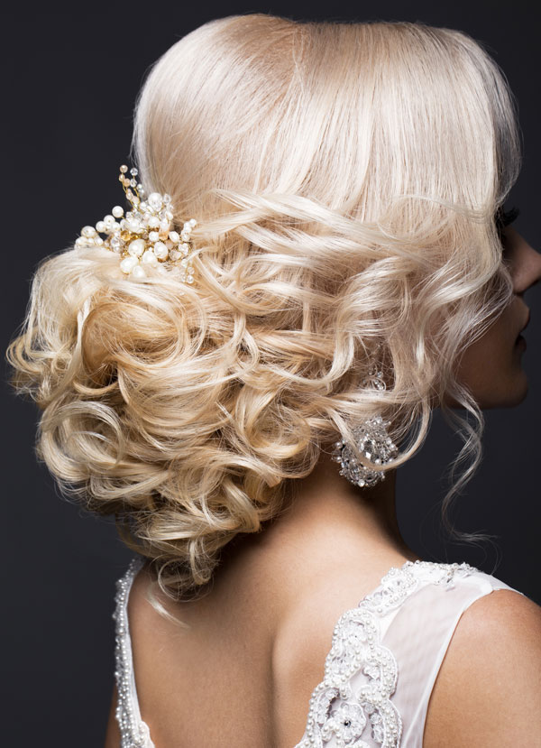 Blonde Bride with Formal Hair by Cuts N Stuff