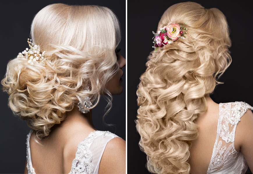 Blonde Formal Hair - Up and Down with Extensions